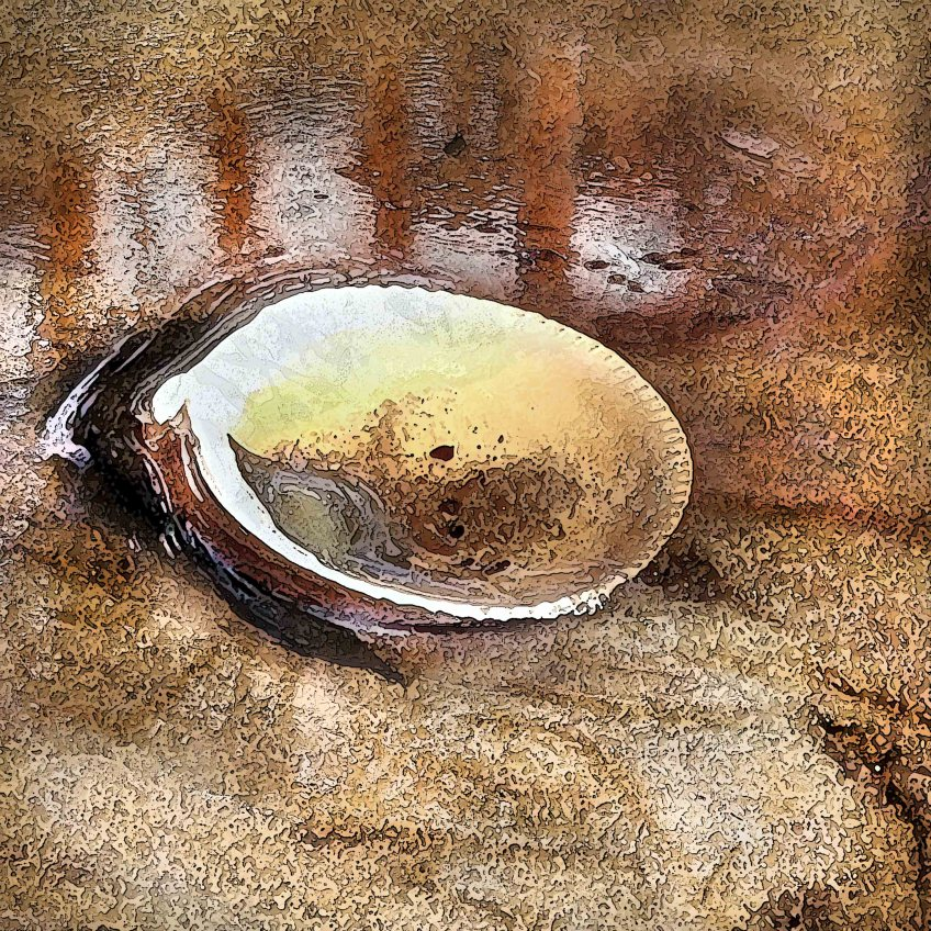'Beach Offering' - 25 x 25 cm, first exhibited Lumeah Gallery, July 1, 2012